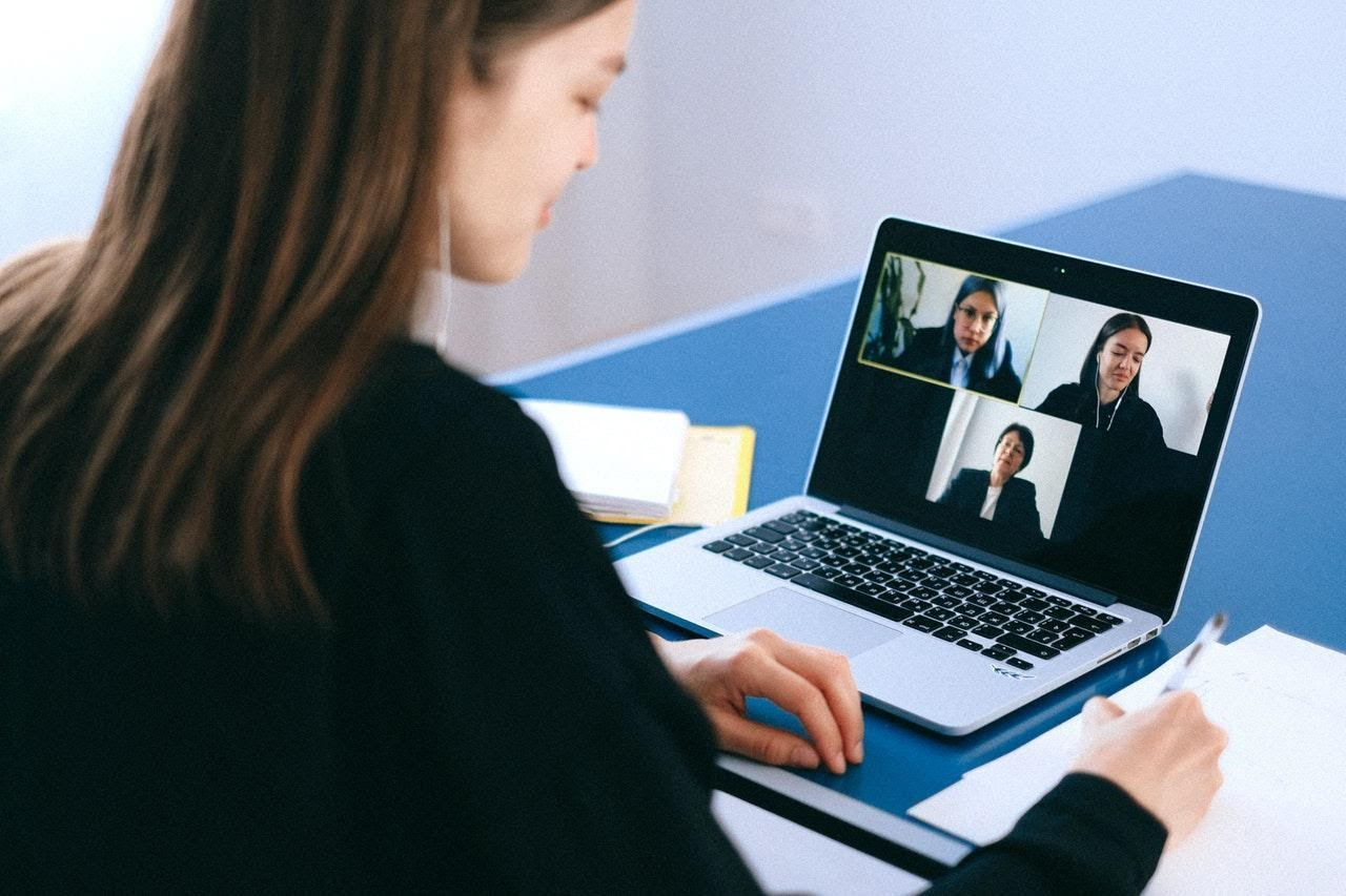 Keeping in contact with employees and clients through virtual video chats