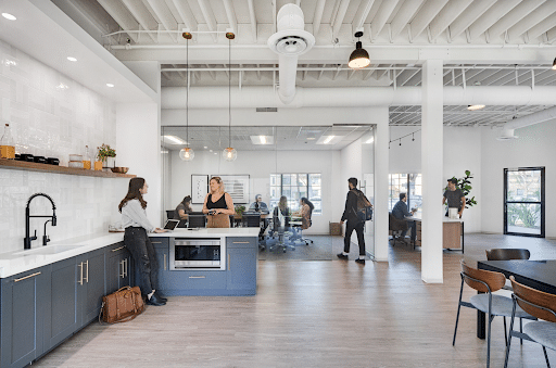 People in coworking space in Riverside CA.